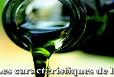 Les caractéristiques de l'huile
